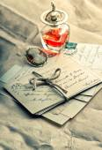 Old love letters — Stock Photo