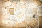 Handwritings and vintage postcards — Stock Photo