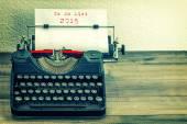 Typewriter with white pape. — Stockfoto