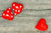 Red Hearts. Valentines Day Decoration — Foto Stock