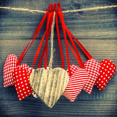 Lovely hearts decoration. Valentines Day concept — Stock Photo