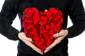 Flowers in heart shape — Stock Photo