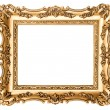 Vintage golden picture frame. Antique style object — Stock Photo #64617273