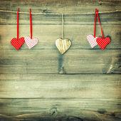 Красные сердца. День святого Валентина. фильтр стиля Instagram — Стоковое фото
