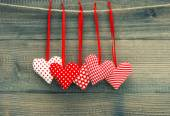 Valentines Day Decoration Red Hearts. — Foto Stock