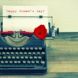 Text Happy Women's Day in  typewriter — Stock Photo #67841993