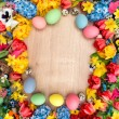 Easter decoration with spring flowers — Stock Photo #67848727
