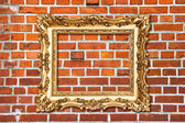 Baroque golden frame — Foto Stock