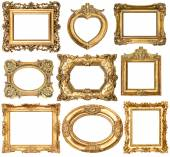 Set of golden frames — Stock Photo