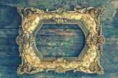 Vintage baroque golden frame — Stockfoto