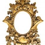Baroque golden frame isolated on white background. Antique objec — Stock Photo #77465082
