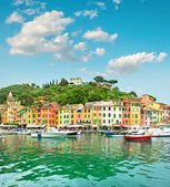 Portofino village on Ligurian coast, Italy, Mediterranean Sea — Stock Photo