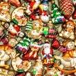 Christmas tree decoration baubles, toys and colorful ornaments. — Stock Photo #81932296