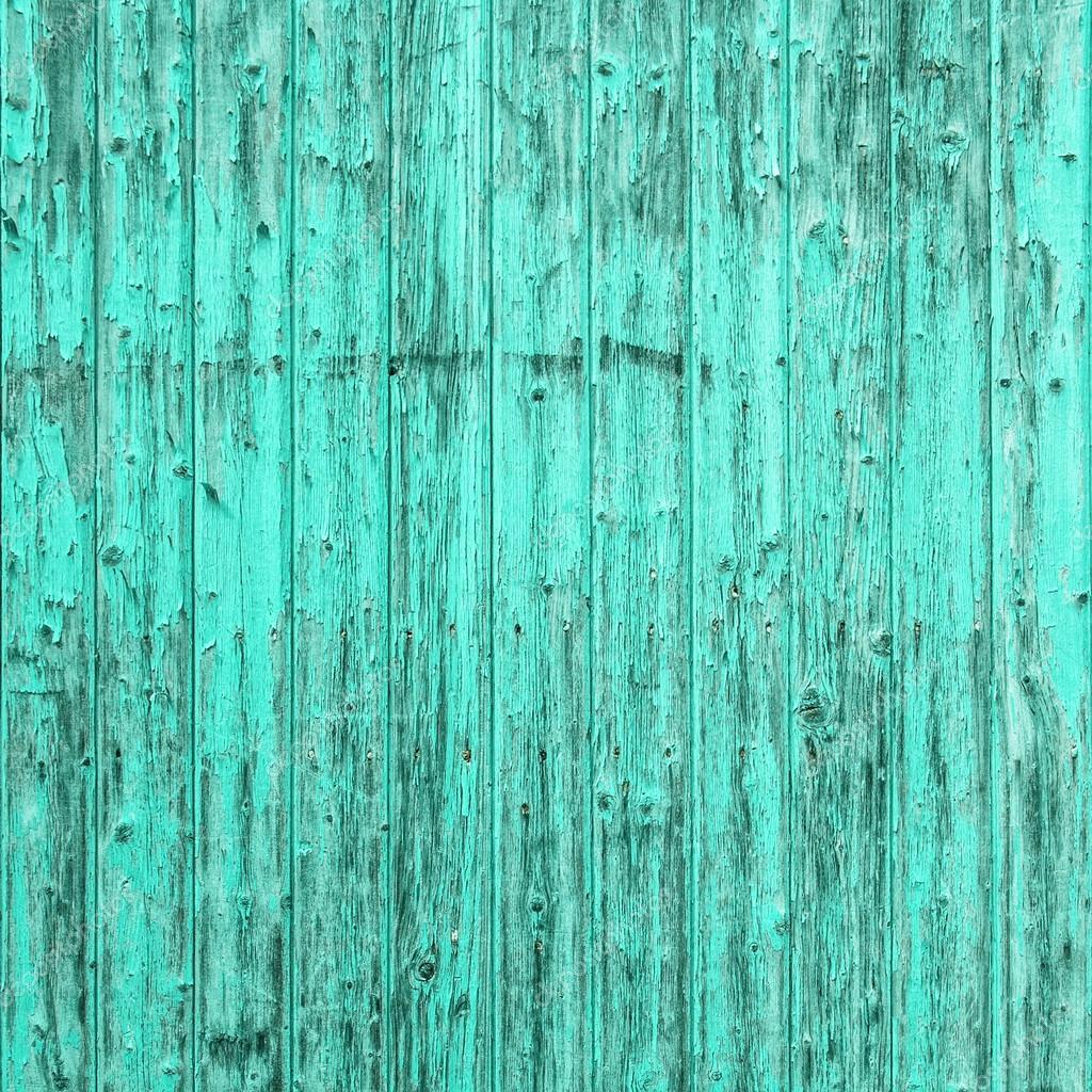 Antiguo Fondo De Madera Azul Turquesa. Shabby Chic Textura