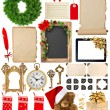 Christmas decorations, ornaments and gifts. Paper and frames iso — Foto de Stock   #83665550