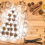 Постер, плакат: Christmas cookies cinnamon stars spices vanilla cinnamon