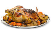 Ugn stekt kyckling — Stockfoto