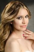 Portrait of a beautiful woman high quality studio photo shoot — Stock Photo