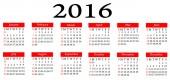 2016 Calender — Stock Photo