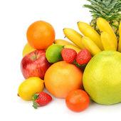 Fruit set isolated on a white background — Stock Photo