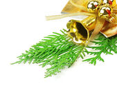 Christmas decorations isolated on white background — Stock Photo