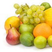 Set of fruits isolated on white background — Stock Photo