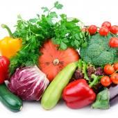 Definir legumes isolados em um fundo branco — Foto Stock
