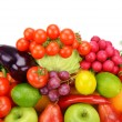 Set of fruits and vegetables isolated on white background — Stock Photo #56521285