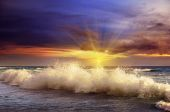 Fantastic sunset on the ocean — Stock Photo