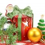 Christmas decorations isolated on white background — Stock Photo #58766165