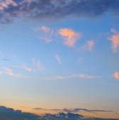 sun sets in the clouds — Stock Photo