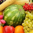 Bright background of fruits and vegetables — Stock Photo #65035633
