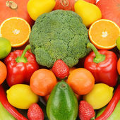 Background of different fruits and vegetables — Stock Photo