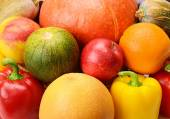 Background of fruits and vegetables — Stock Photo