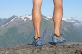 On top of the mountain — Stock Photo