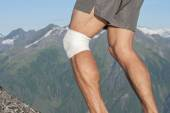 Knee sport support — Stock Photo