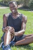 Sports knee injury — Stock Photo