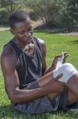 照顾膝盖受伤 — 图库照片