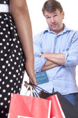 Shopping frenzy — Stock Photo