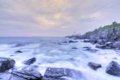 Portland Head Lamp and rocky Maine coastline — Stock Photo
