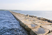 End of Rockland Bay breakwater — Stock Photo