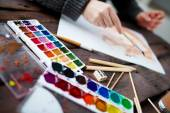 Artist drawing — Stock Photo