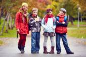 Group of schoolkids — Stock Photo