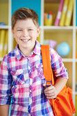 Happy schoolboy — Stock Photo