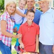 Family at summer weekend — Stock Photo #53810289