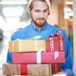 Man holding gift boxes — Stock Photo #53816235