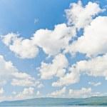 Cloudy sky over mountains — Stock Photo #53816757