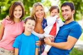 Parents and children — Stock Photo
