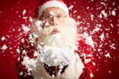 圣诞老人吹雪 — 图库照片