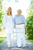 Clinician and senior patient — Foto Stock